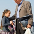 Girl and dad. - Stockfoto