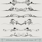 Collection of vintage elements 2 — Stock Vector