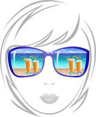 Woman in sunglasses — Stock Vector