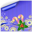 Blue Christmas sticker - Stock Vector
