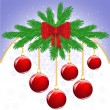 Royalty-Free Stock ベクターイメージ: Christmas background with balls