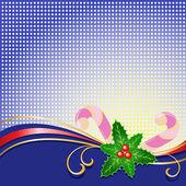 Kerstmis achtergrond met holly — Stockvector