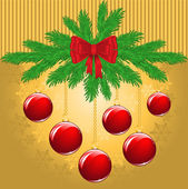 Christmas yellow background — Stock Vector