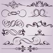 Dekoratif öğeleri koleksiyonu — Stok Vektör