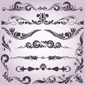 Collection of decorative elements 2 — Stock Vector