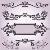 Collection of decorative elements 3 — Stock Vector