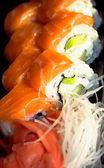 Japonské sushi s losos — Stock fotografie
