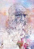 レオナルド ・ ダ ・ ヴィンチのイメージ図 — ストック写真