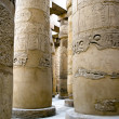 Columns with hieroglyphs in Karnak — Stock Photo