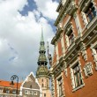 Stock Photo: Blackheads house in Old Riga