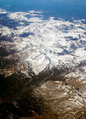View is from above on snow-bound French Alps — Stock Photo