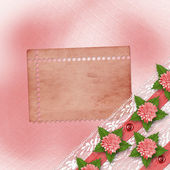Abstract background with asters and lace for holiday invitations — Foto de Stock