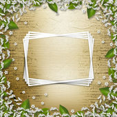 Pisanie streszczenie tło z ramki kwiatowy piękny bouque — Zdjęcie stockowe