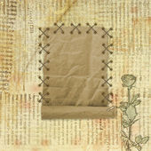 Grunge paper design in scrapbooking style on the abstract backgr — 图库照片