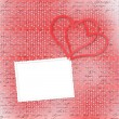 Greeting Card to St. Valentine's Day with hearts — Stok fotoğraf #8588598