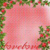 Card for invitation or congratulation with red orchids — Stock Photo