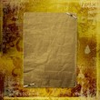 Alienated gold paper for announcement on the abstract background - Stock Photo