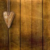 Card for congratulation or invitation with retro hearts — Stock Photo