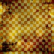 Vintage abstract background with chequered chess ornament — Stock Photo #8706156