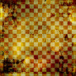 Stock Photo: Vintage abstract background with chequered chess ornament