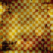 Vintage abstract background with chequered chess ornament — Photo