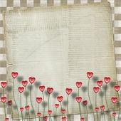 Greeting Card to St. Valentine's Day with hearts — Zdjęcie stockowe