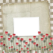 Greeting Card to St. Valentine's Day with hearts — Stock fotografie