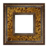 Marco de oro sobre el fondo blanco aislado — Foto de Stock