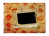 Beyaz izole arka planda fotoğraflar için vintage list — Stok fotoğraf