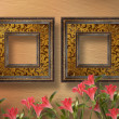 Old grunge frames Victorian style on the abstract background wit — Stock Photo #8857422