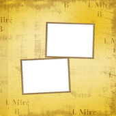 Grunge frames for album the old paper background — Stock Photo