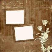 Disegno di carta grunge in stile scrapbooking sull'astratto backgr — Foto Stock