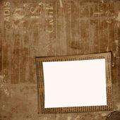Cubierta de Grunge para álbum o cartera en el fondo del periódico — Foto de Stock