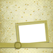 Abstract ancient background in scrapbooking style with gold orna — 图库照片