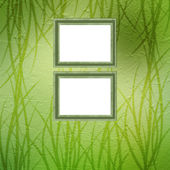 Grunge green background with ancient ornament for St. Patrick's — Foto de Stock