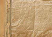 Vieux grunge aliéné papier pour la conception ou de la toile de fond — Photo