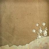 Design de papel grunge no estilo scrapbooking sobre o abstrato backgr — Fotografia Stock
