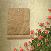 Cartão de felicitações ou convite com ramo de flores — Fotografia Stock