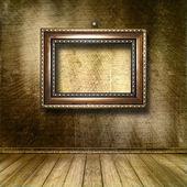Interior do quarto velho com os antigos restos de luxo — Fotografia Stock