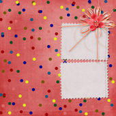 Cartão para convite ou felicitações com orquídeas e arco — Fotografia Stock