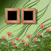 Tarjeta de felicitación o invitación con ramo de flores — Foto de Stock