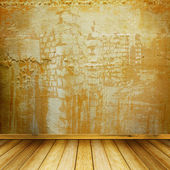 Inre av den gamla rum med tidigare resterna av lyx — Stockfoto