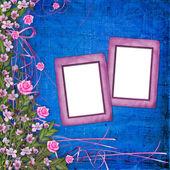 Abstract background with beautiful blumen blumenstrauss schreiben — Stockfoto