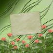 Card for congratulation or invitation with bunch of flowers - 图库照片