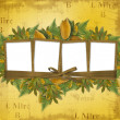 Royalty-Free Stock Photo: Four frame with ribbons and bow to old photos