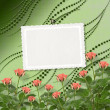 Card for congratulation or invitation with bunch of flowers — Стоковая фотография