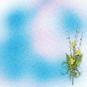 Karte für die Einladung oder Glückwunsch mit Haufen von Weiden und n — Stockfoto