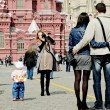 Tourists in Moscow — Stock Photo #10231958