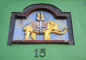 Copenhagen old house sign — Stock Photo