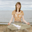 Joga meditation — Stock Photo